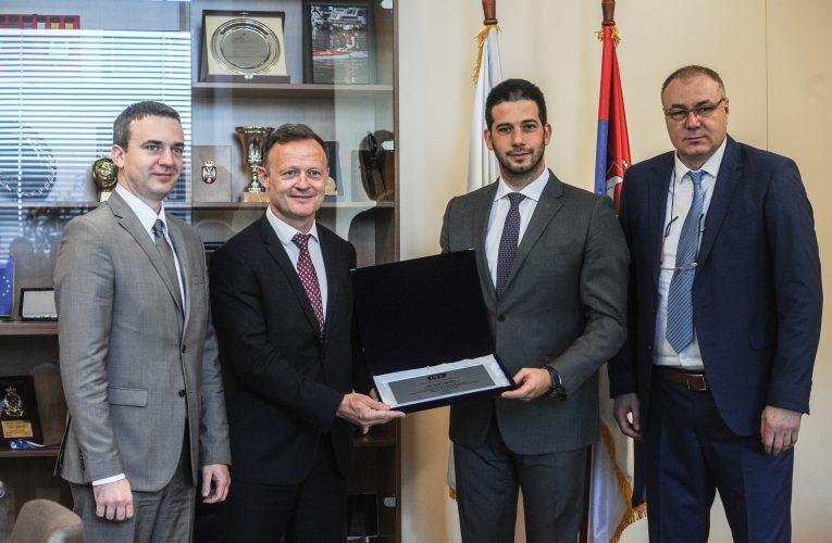 Udovičić sa predsednikom ISF-a