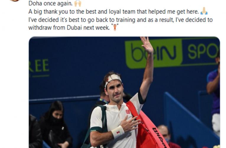 Federer odustao od Dubaija